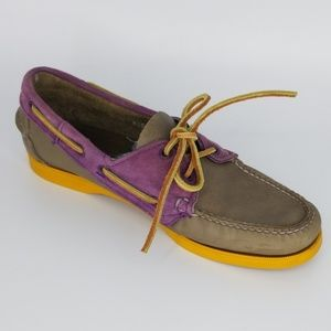 Sebago Docksides Purple and Gray Size 8.5